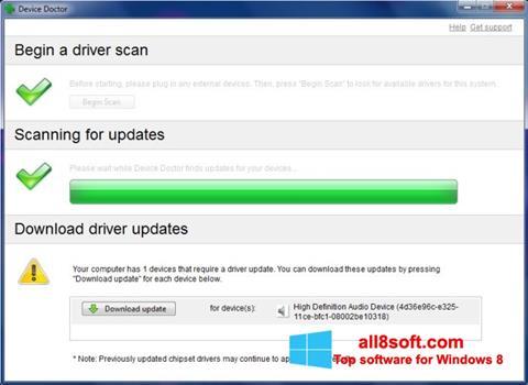 لقطة شاشة Device Doctor لنظام التشغيل Windows 8