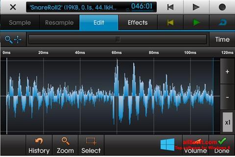 لقطة شاشة NanoStudio لنظام التشغيل Windows 8