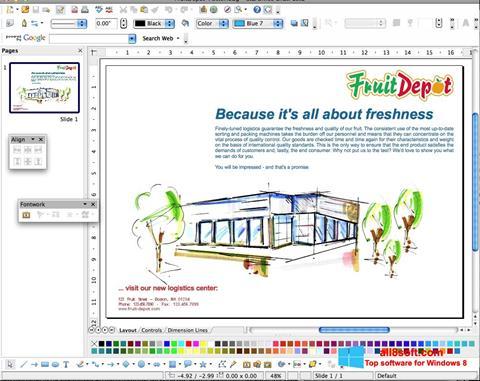 لقطة شاشة Apache OpenOffice لنظام التشغيل Windows 8