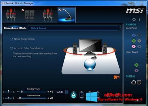 لقطة شاشة Realtek Audio Driver لنظام التشغيل Windows 8