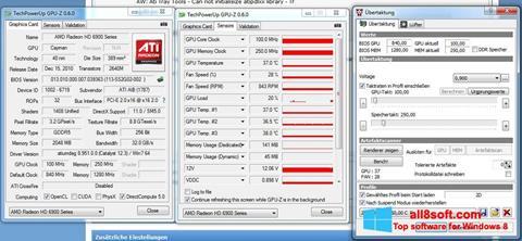لقطة شاشة ATI Tray Tools لنظام التشغيل Windows 8