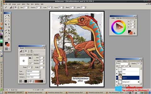 لقطة شاشة Artweaver لنظام التشغيل Windows 8