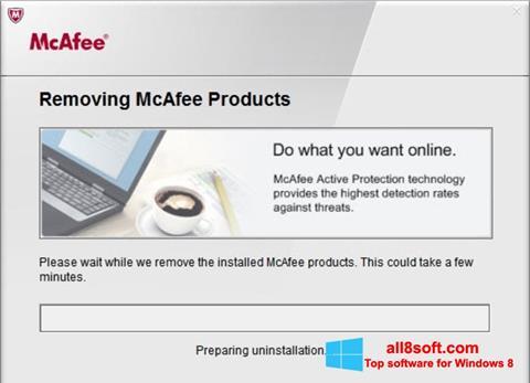 لقطة شاشة McAfee Consumer Product Removal Tool لنظام التشغيل Windows 8