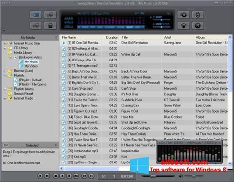 لقطة شاشة JetAudio لنظام التشغيل Windows 8