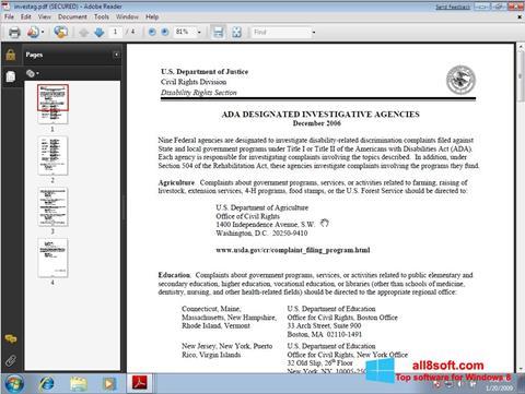 لقطة شاشة Adobe Reader لنظام التشغيل Windows 8