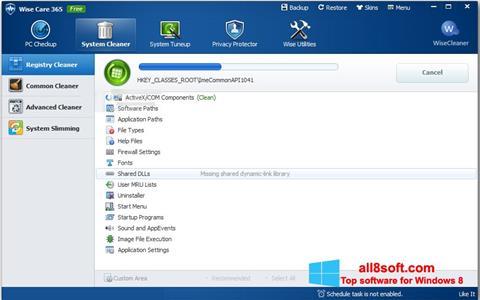 لقطة شاشة Wise Care 365 لنظام التشغيل Windows 8