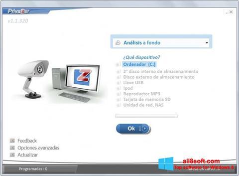 لقطة شاشة PrivaZer لنظام التشغيل Windows 8