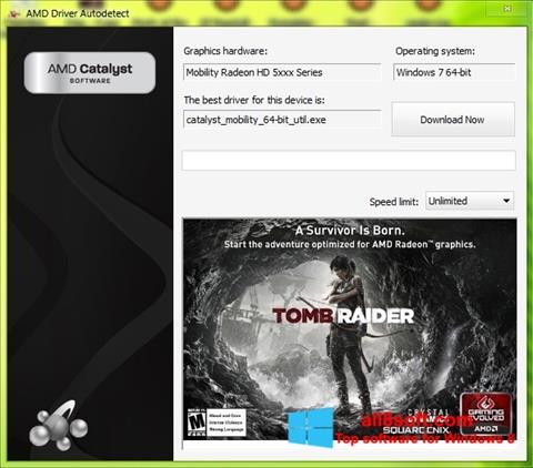 لقطة شاشة AMD Driver Autodetect لنظام التشغيل Windows 8