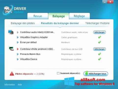 لقطة شاشة Carambis Driver Updater لنظام التشغيل Windows 8