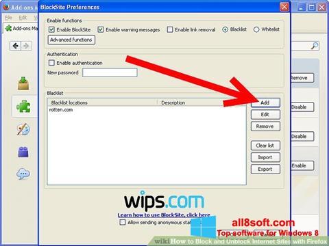 لقطة شاشة uBlock لنظام التشغيل Windows 8