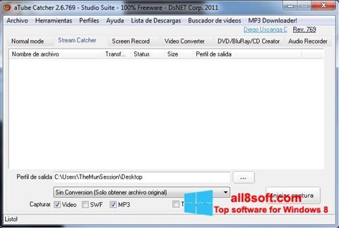 لقطة شاشة aTube Catcher لنظام التشغيل Windows 8