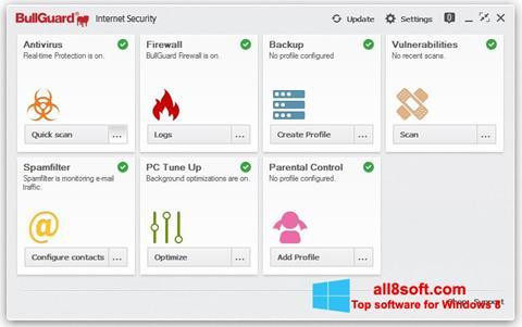 لقطة شاشة BullGuard لنظام التشغيل Windows 8