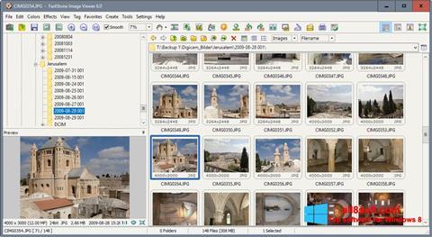 لقطة شاشة FastStone Image Viewer لنظام التشغيل Windows 8