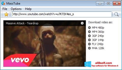 لقطة شاشة MassTube لنظام التشغيل Windows 8