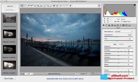 لقطة شاشة Adobe Camera Raw لنظام التشغيل Windows 8