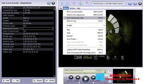 لقطة شاشة FLV Player لنظام التشغيل Windows 8