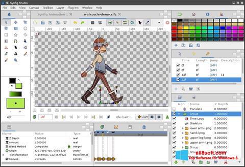 لقطة شاشة Synfig Studio لنظام التشغيل Windows 8