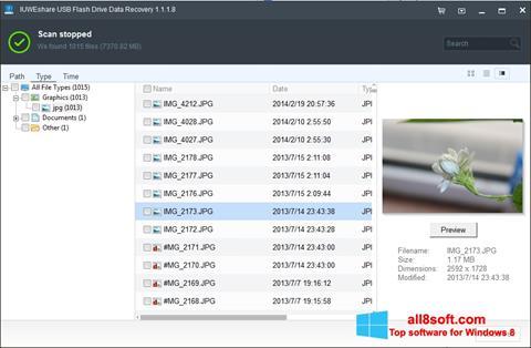 لقطة شاشة USB Flash Drive Recovery لنظام التشغيل Windows 8