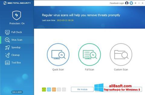 لقطة شاشة 360 Total Security لنظام التشغيل Windows 8