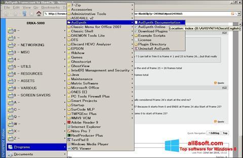 لقطة شاشة AviSynth لنظام التشغيل Windows 8