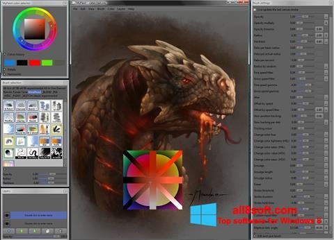 لقطة شاشة MyPaint لنظام التشغيل Windows 8