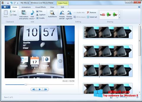 لقطة شاشة Windows Live Movie Maker لنظام التشغيل Windows 8