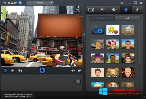 لقطة شاشة CyberLink YouCam لنظام التشغيل Windows 8
