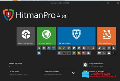 لقطة شاشة HitmanPro لنظام التشغيل Windows 8