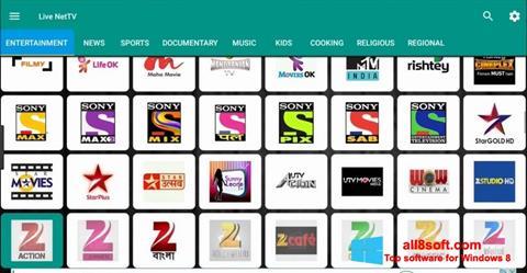 لقطة شاشة Net TV لنظام التشغيل Windows 8