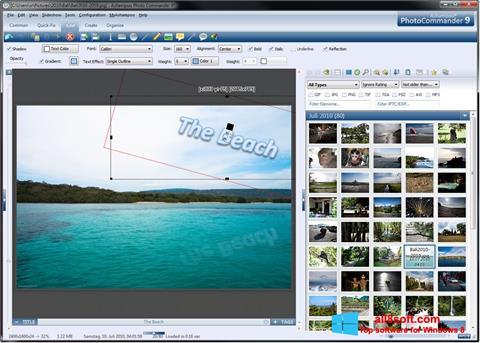 لقطة شاشة Ashampoo Photo Commander لنظام التشغيل Windows 8