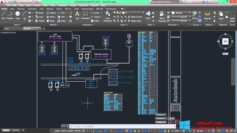 لقطة شاشة AutoCAD Electrical لنظام التشغيل Windows 8