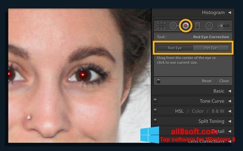 لقطة شاشة Red Eye Remover لنظام التشغيل Windows 8