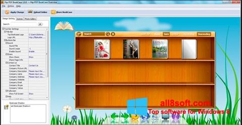 لقطة شاشة Bookshelf لنظام التشغيل Windows 8