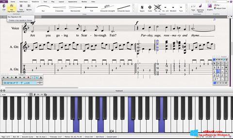 لقطة شاشة Sibelius لنظام التشغيل Windows 8