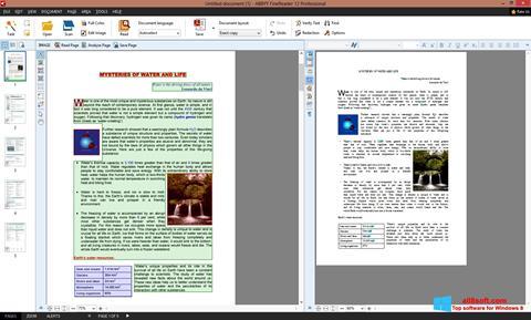 لقطة شاشة ABBYY FineReader لنظام التشغيل Windows 8