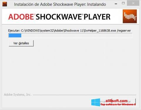 لقطة شاشة Adobe Shockwave Player لنظام التشغيل Windows 8