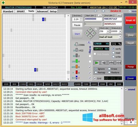 لقطة شاشة Victoria لنظام التشغيل Windows 8