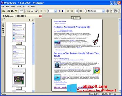 لقطة شاشة WinDjView لنظام التشغيل Windows 8