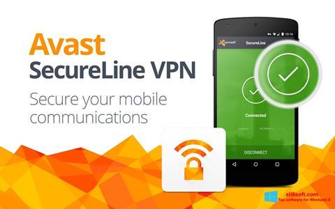 لقطة شاشة Avast SecureLine VPN لنظام التشغيل Windows 8
