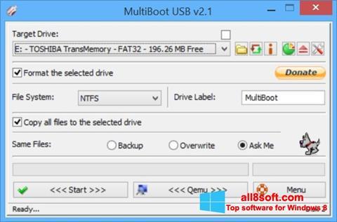 لقطة شاشة Multi Boot USB لنظام التشغيل Windows 8