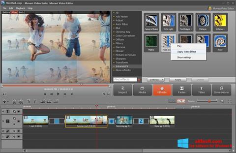 لقطة شاشة Movavi Video Suite لنظام التشغيل Windows 8