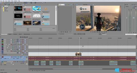 لقطة شاشة Sony Vegas Pro لنظام التشغيل Windows 8