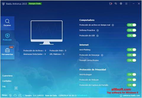 لقطة شاشة Baidu Antivirus لنظام التشغيل Windows 8