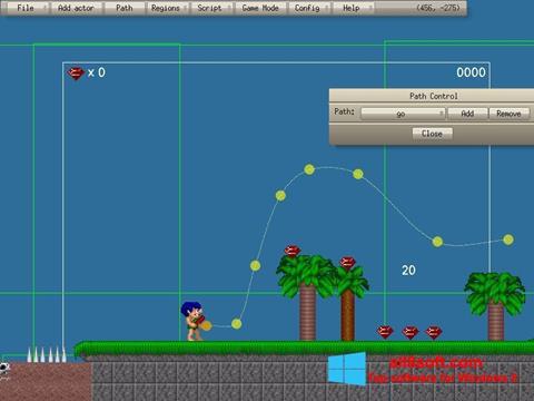 لقطة شاشة Game Editor لنظام التشغيل Windows 8