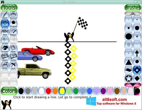 لقطة شاشة Tux Paint لنظام التشغيل Windows 8