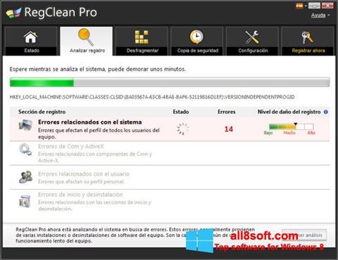 لقطة شاشة RegClean Pro لنظام التشغيل Windows 8