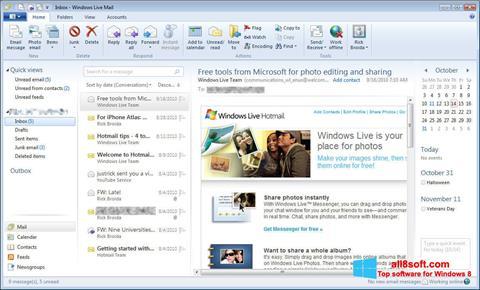 لقطة شاشة Windows Live Mail لنظام التشغيل Windows 8