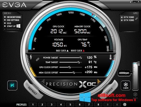 لقطة شاشة EVGA Precision X لنظام التشغيل Windows 8