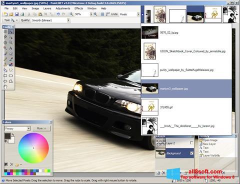 لقطة شاشة Paint.NET لنظام التشغيل Windows 8