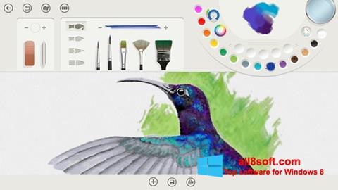 لقطة شاشة Fresh Paint لنظام التشغيل Windows 8
